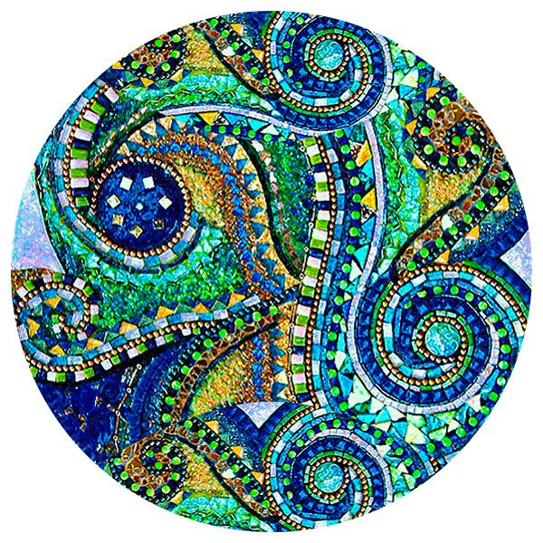 Glimmer Glass Mosaics Glimmer Glass Circles